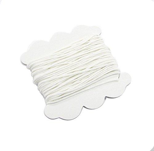 Linen Floss Pack (Linpeng 1554A 1mm White Cord -10 Ydsper Card Waxed Linen - 2 Cardsper Pack)