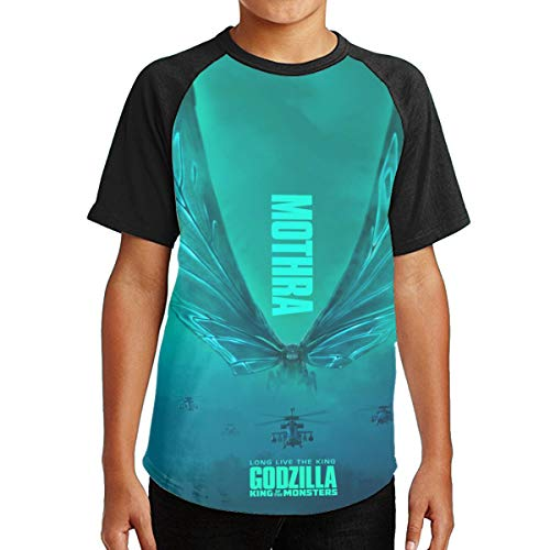 Famous World Youth God Monster Zilla Tee T-Shirt for Teenager Boys Girls Black XL ()