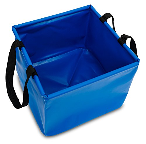 2-Pack-Blue-Wash-and-Rinse-Camping-Wash-Basin-Collapsible-Water-Bucket-422-Gallon-Capacity