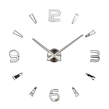 YAHAMA Reloj Pared Adhesivos Diseño Reloj Pared 3D Sin Marco Reloj de Pared 3D con Números Adhesivos DIY: Amazon.es: Hogar
