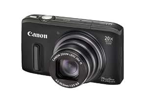 """Canon PowerShot SX260 HS - Cámara compacta de 12.1 Mp (pantalla de 3"""", zoom óptico 20 xestabilizador de imagen tipo variable, 4 pasos. is inteligente, GPS) color negro"""