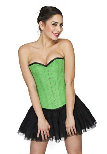 ミニ最悪ぺディカブGreen Velvet Gothic Burlesque Waist Training Bustier Overbust Corset Costume Top