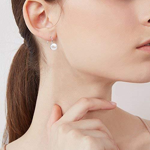 Ohrringe Damen Perle 925 Sterling Silber Tropfen Ohrringe mit Süßwasser Zuchtperle Haken Ohrringe für Damen