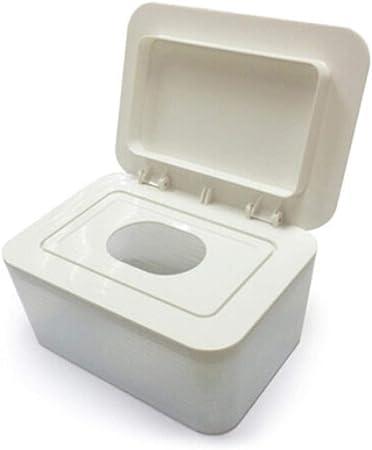 Caja higiénica de pañuelos húmedos, Papel Sellado para bebés, desmaquillante Lady , Caja para servilletas húmedas, Soporte/dispensador/contenedor de toallitas húmedas, Blanco: Amazon.es: Hogar