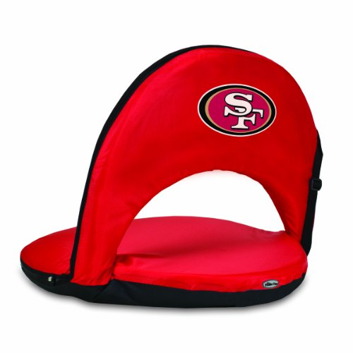 NFL San Francisco 49ers Oniva Portable Reclining Seat, Red