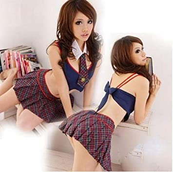 Branxin Christmas Sexy School Uniform Queen Fancy Seductive Girl Costume Outfit Scarf New Sexy Schoolgirl