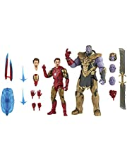 Hasbro Marvel Legends Series 6-inch Scale Action Figure 2-Pack Toy Iron Man Mark 85 vs. Thanos, Infinity Saga character, Premium Design, 2 Figures and 15 Accessories