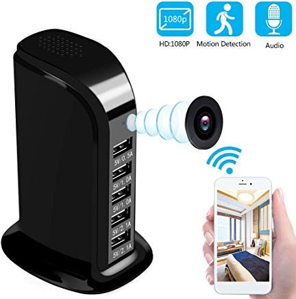 Spy Camera WiFi 1080P HD - Hidden Camera Wireless Hidden and Motion Detection Mode Mini Camera for Your Home and Office (Black)