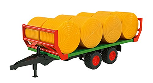 - Bruder Bale Transport Trailer with 8 Round Bales