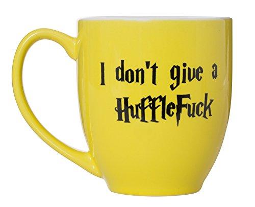 I Don't Give A HuffleFuck - 15oz Bistro Deluxe Double-Sided Coffee Tea Mug (HuffleFuck) by Artisan Owl (Image #4)