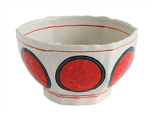 Coral Circles Hand-Painted Stoneware Bowl - Set Of 6 by Heart of America