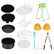 Air Fryer Accessories, 7in Universal 12pcs Hot Air Fryer Kits with Cake Cup Cake Basket Accessories, Air Fryer Kits, Air Fryer