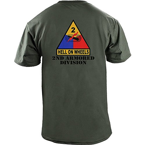 Army 2nd Armored Division Full Color Veteran T-Shirt (XL, (2nd Colour)