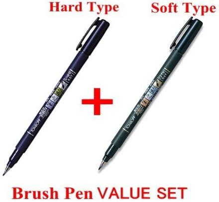 Tipo de punta de pincel Tombow Fudenosuke – suave & duro tipo 2 bolígrafos artes valor Set: Amazon.es: Oficina y papelería