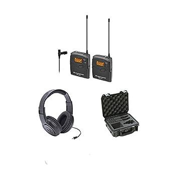 Sennheiser ew112-pg3 sistema de micrófono inalámbrico w/Me2 micrófono lavalier, SKB iSeries
