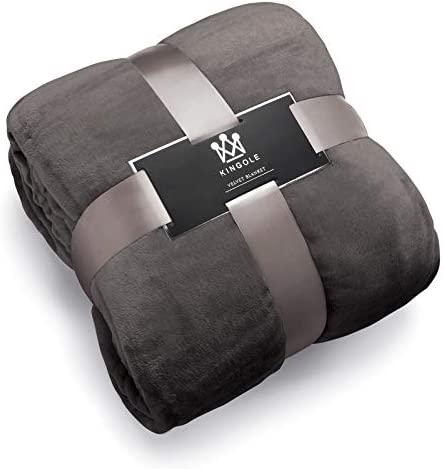 Kingole Flannel Charcoal Lightweight Microfiber product image