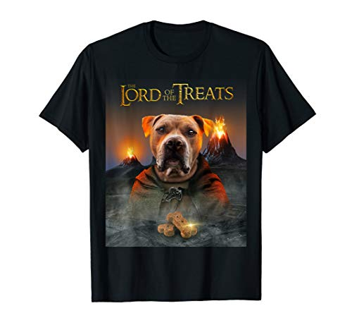 LORD OF THE TREATS - Funny & Cute American Pitbull Puppy T-Shirt