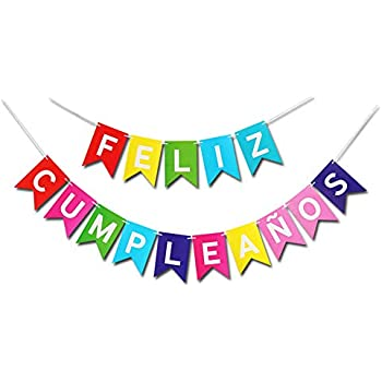 Amazon.com: 5ft Feliz Cumpleanos Banner: Kitchen & Dining