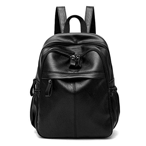 Para mujer Bolsos mochila Bolsos bandolera Carteras de mano Mochila escolar Bolsa para portátil Cuero Fekete Fekete