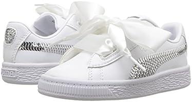 Heart Kids 5 Bling Puma Basket M SneakerWhite Silver4 Unisex Us TFcJ3K1l