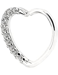 Body Piercing Jewelry Heart Sharped Right Closure Daith Cartilage Tragus Helix Earrings 16 Gauge
