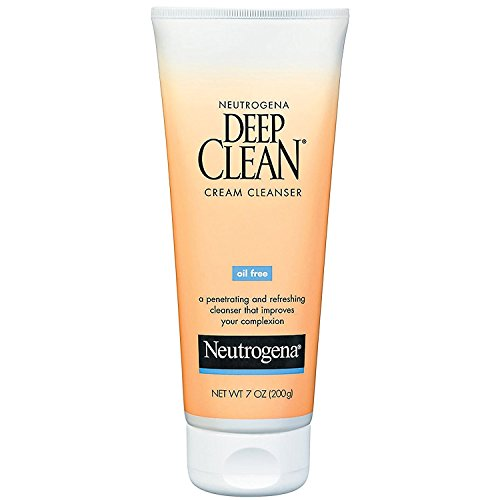 Neutrogena Deep Clean Facial Cleanser - Neutrogena Deep Clean Daily Facial Cream Cleanser with Beta Hydroxy Acid to Remove Dirt, Oil & Makeup, Alcohol-Free, Oil-Free & Non-Comedogenic, 7 fl. oz (Pack of 2)