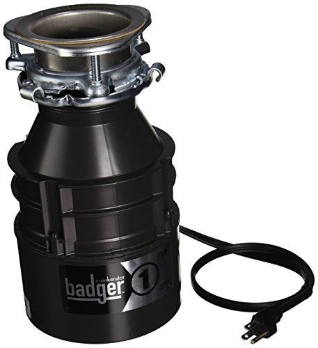 - Insinkerator BADGER1CORD Household Food Waste Disposer with Cord, 1/3 Horsepower, Grey (Renewed)