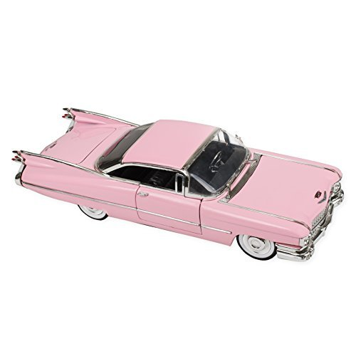 (1959 Pink Cadillac Coupe Deville 9 Inch Die Cast Toy Car)