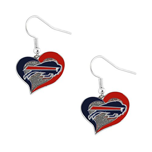 NFL Buffalo Bills Swirl Heart Earrings