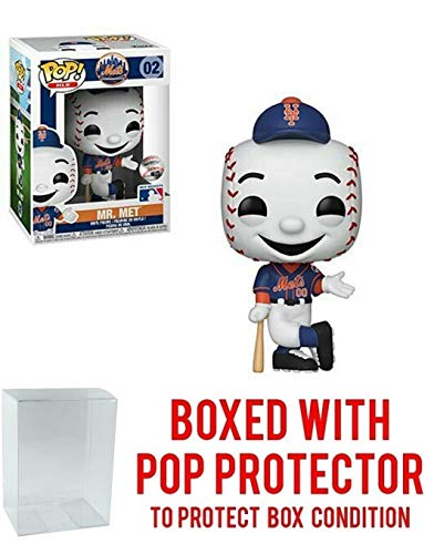 POP! Sports MLB Mascots New York Mets, Mr. Met Action Figure (Bundled with Pop Box Protector to Protect Display Box) for $<!--$24.97-->