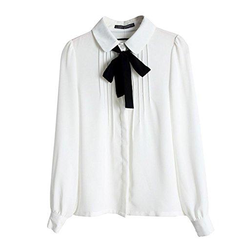 Hengzhi Womens Chiffon Blouses Sweatshirt
