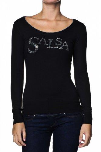 Salsa Salsa shirt T T Nero Nero Salsa shirt T shirt Donna Donna aar4Fq
