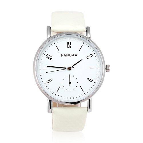 Wristwatch, 3 Colors Fashionable Analog Quartz Watch PU Band Alloy Case Round (Fashionable Pu Band)