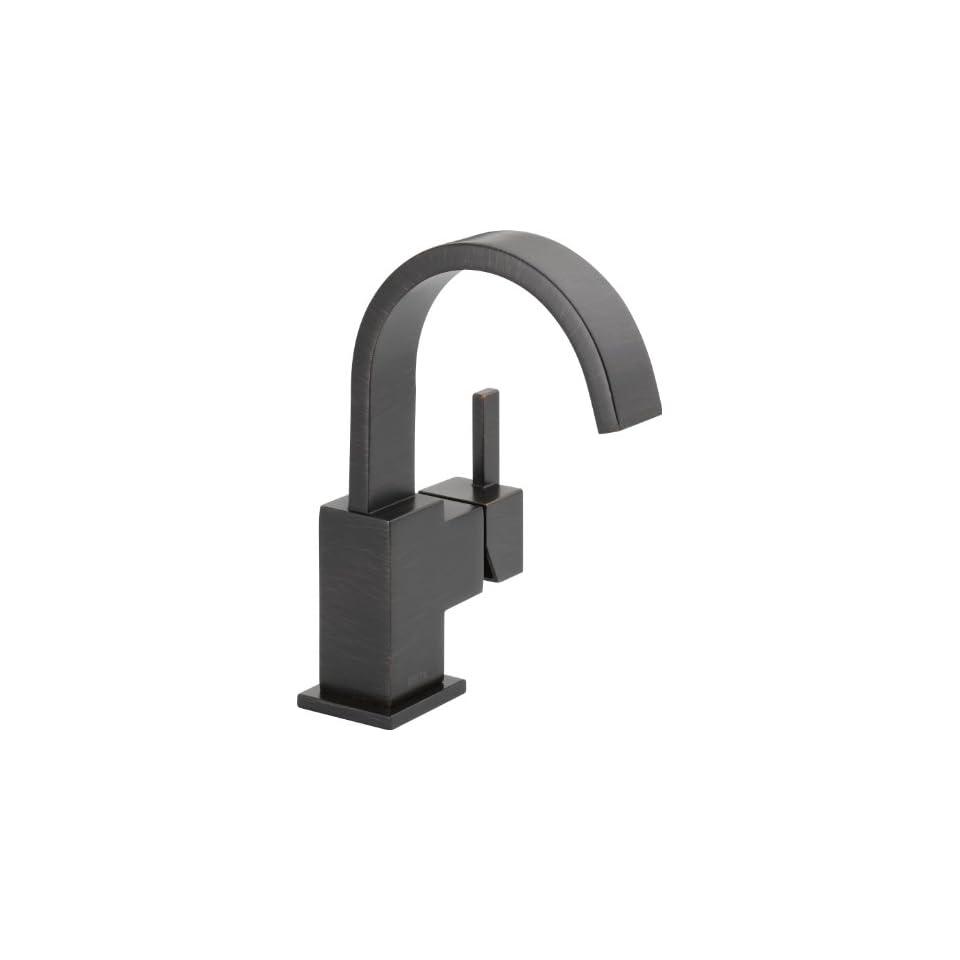 Delta Faucet 553LF RB Vero Single Handle Centerset Lavatory Faucet, Venetian Bronze
