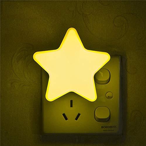 VT BigHome Light Sensor Control Mini Star LED Night Light for Dark Night Children Bedroom Bedside Lamp with EU/US Plug Baby Sleeping Light -