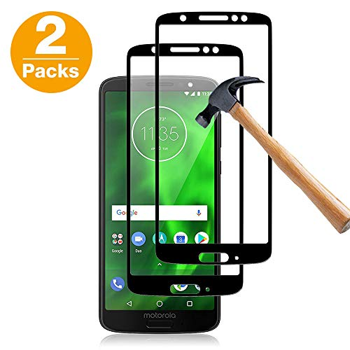 [2 Pack] Moto G6 Screen Protector?Habyby Dot Matrix Motorola Moto G6 Tempered Glass Screen Protector XT1925,(Full Screen Coverage)(Case Friendly) HD Clear Anti-Bubble Film