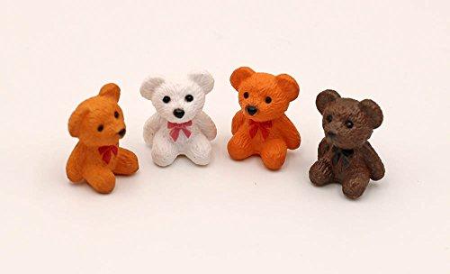 nanguawu Doll House Miniature Bears 4pcs 1/12 Scale H2cm from nanguawu