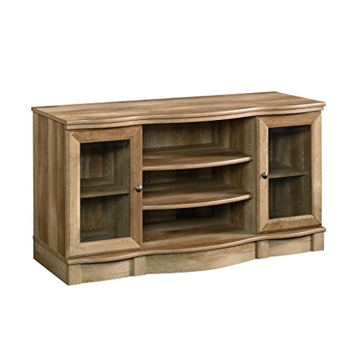 Sauder 420048 TV Stand, Craftsman - Glass Oak Entertainment Center