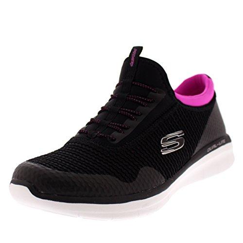 Skechers Sport Women's Synergy 2.0-Mirror Image Fashion Sneaker,Black Hot Pink,6 M US