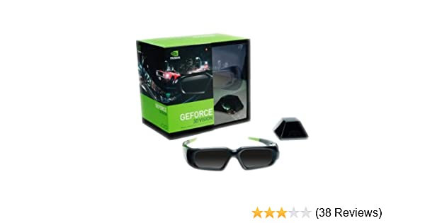 48582c2b6a78 nVidia GeForce Wireless 3D Stereo Glasses Kit with Emitter  942-10701-0003-001 Accessories   Supplies