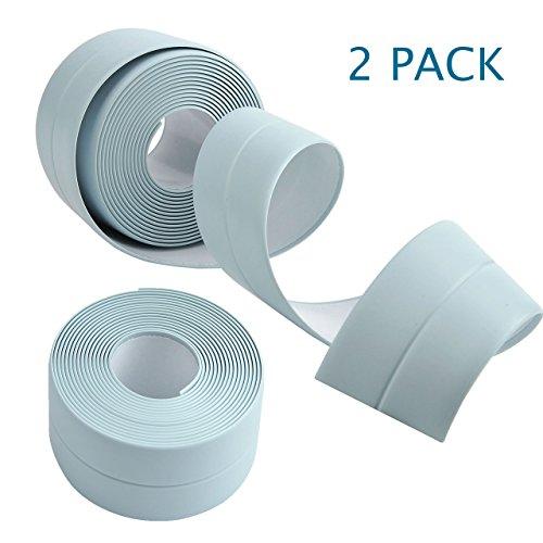 WarmHut Wall Caulk Strip, 2Pack 19.6ft Waterproof Kitchen Bathroom Wall Caulk Sealing Strip Tape (Blue) by WarmHut