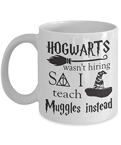 Hogwarts Wasn't Hiring Teach Muggles Teacher Chris, Funny Happy Halloween Day Mug Coffee Cup, Halloween Gift for Husband, Wife, Dad, Mom, Sister, Brot ()