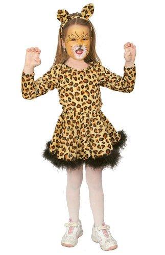 Leoparden Girl Kinder Kostum Als Katze Zu Karneval Fasching Gr 128