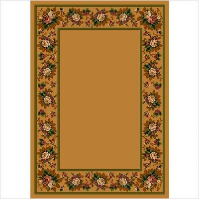 Design Center Floral Lace Maize Rug Size: 5'4