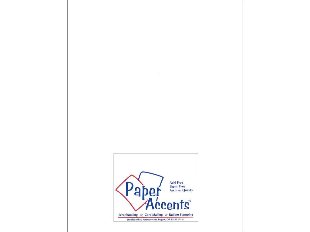 Paper Accents Chipboard 8 1/2 x 11 in. Extra Heavy White (25 sheets) ADP8511-25.128CB