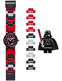 Star Wars 8020301 Darth Vader Kids Buildable Watch with Link Bracelet and Minifigure | black/red | plastic | 25mm case diameter| analog quartz | boy girl | official