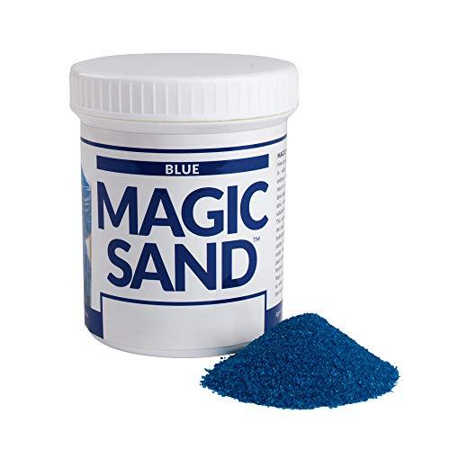 스티브 스팽글 SCIENCE 매직 모래 227G 블루 컬러 재생 모래지 않는 젖은 흥미로운 줄기 활동을 배우고 가르치는 대한 물 분자에 대한 가정과 교실 사용