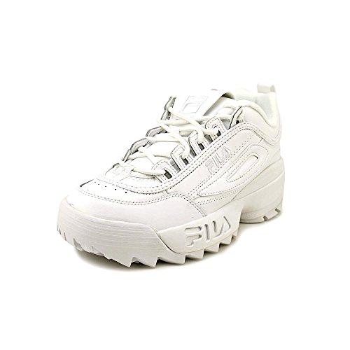 Sneakers Fila White (Fila Kids' Disruptor II Sneaker, Triple White, 5 M US Big Kid)