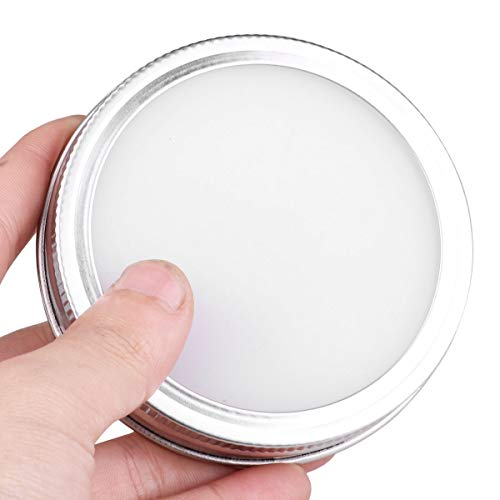 CHICTRY Stainless Steel Mason Jar Lids Rust Resistant Polished Storage Solid Caps with Silicone Sealing Lid Inserts Suitable for Mason Ball Canning Jar Silver 86mm by CHICTRY (Image #6)