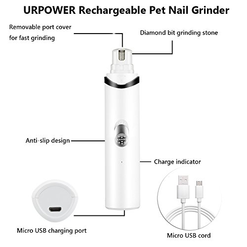 URPOWER-Rechargeable-Pet-Nail-Grinder-Upgraded-Dog-Nail-Grinder-with-USB-Charging-Quite-Powerful-Nail-Clipper-for-Gentle-Paws-Grooming-Nail-Grinder-for-Dogs-Cats-and-Other-Small-Medium-Pets